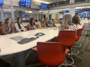 Journalism students joined the morning editorial meeting at NBCDFW.