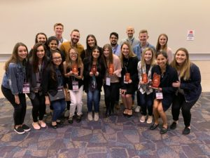 The TCU team of students competing in the 2019 National Student Advertising Competition (NSAC).