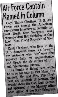 news article about a captain interviewed by Bob in Vietnam