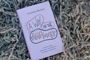 """A photo of the cover of TCU student Victoria Becker's book, A Way in the Wilderness."""""""